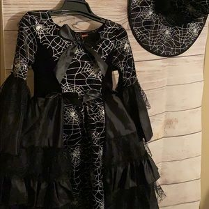 Spooked Witch Costume Dress Up w/ Hat Gown NWOT